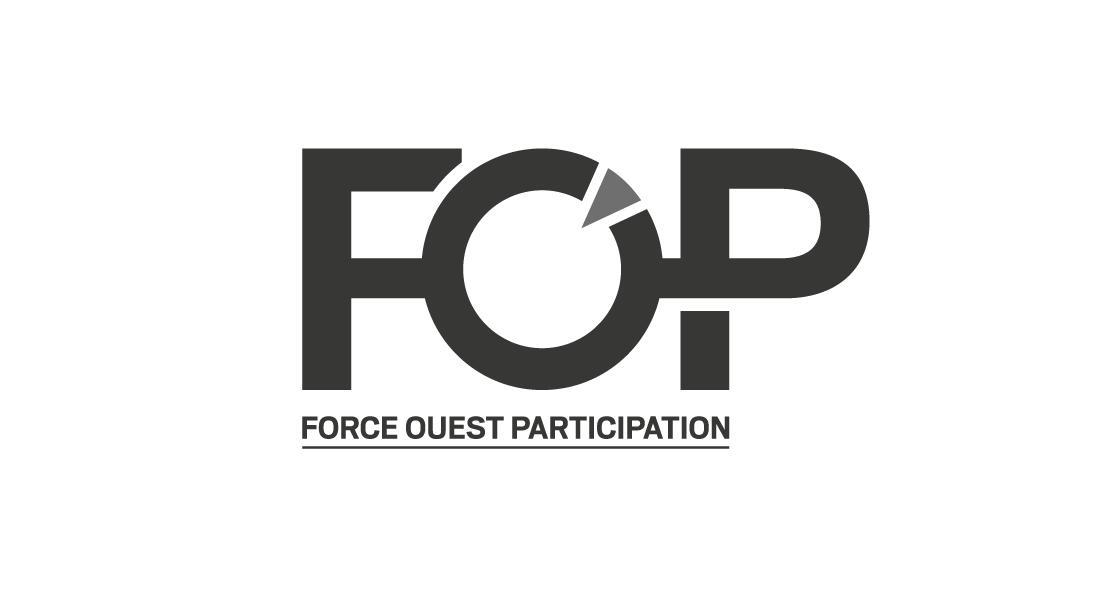 Logo FOP en niveaux de gris